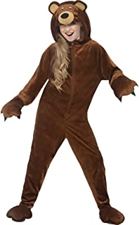 Smiffys Store, Bear Costume, Brown, with Hooded Jumpsuit, Medium