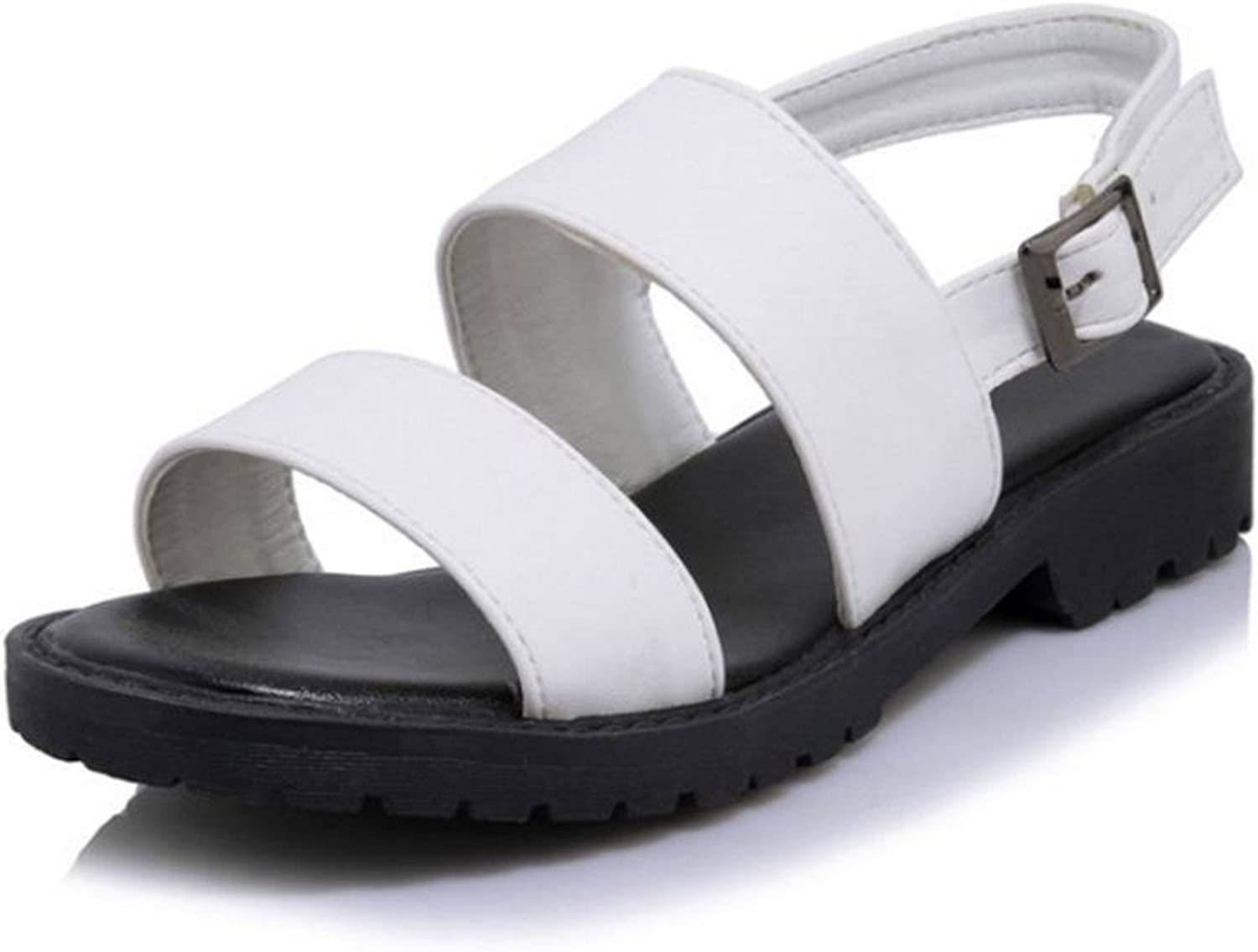 Nerefy Size 32-43 Ladies Flats Sandals Open Toe Ankel Strap shoes Women Solid Sexy Sandals Footwears