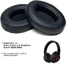 Replacement Foam Earpads Cushion Compatible with Beats Studio 2.0 Wired/Wireless B0500 B0501 Headphone & Beats Studio 3.0, Bubble Ear Pad Cushion, 1 Pair (Black)