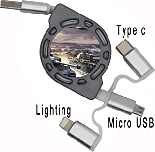 Beautiful for Child Use As USB Cable Printing Tiger Tank Soft Cable Support Flexible