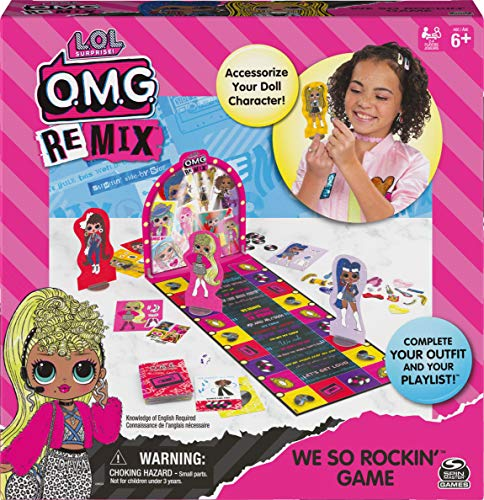 Spin Master Games L.O.L. Surprise! OMG We So Rockin', Fashion Accessories Matching Game, for Families, Teens, and Kids Ages 6 and up 6060028