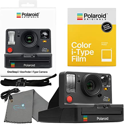 Polaroid OneStep 2 Viewfinder i-Type Camera 9009 Graphite Bundle with a Color i-Type Film Pack 4668 (8 Instant Photos) and a Lumintrail Cleaning Cloth