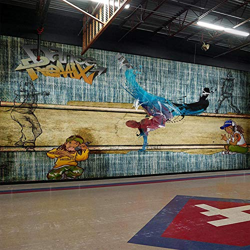 YSJHPC Fototapete Hip Hop Straße Hip Hop Hand gezeichnete Kritzeleien 3D Effekt Tapete Selbstklebend 3D Wallpaper Moderne Wanddeko Wandbilder Tapete Wohnzimmer Schlafzimmer Büro Flur(B) 300x (H) 210CM