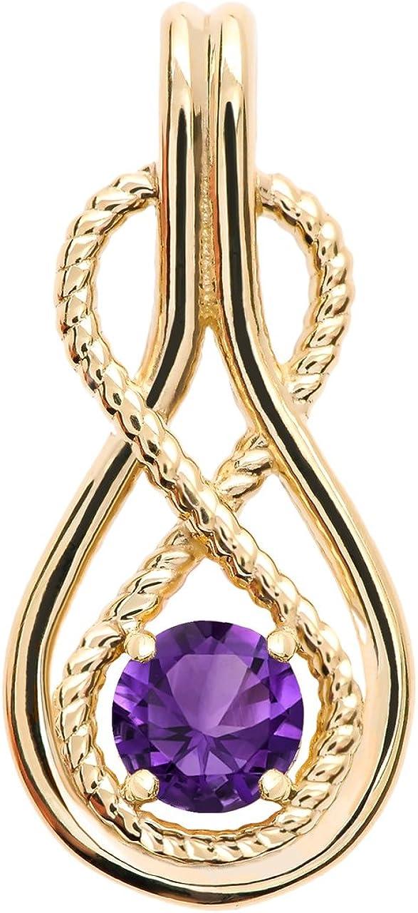Infinity Rope February Birthstone Amethyst Yellow Free shipping on posting reviews Penda Gold 14k Fresno Mall