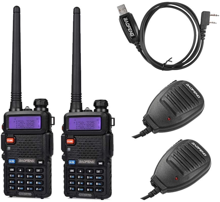 BAOFENG 2 Pack 8W Radio+1 Cable+2 8 Gifts service speaker Tri-Power 4 1