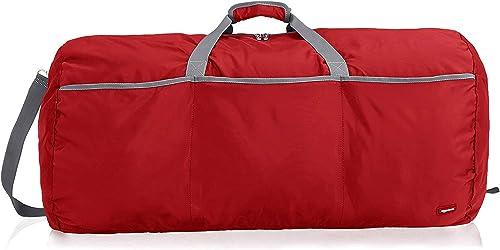AmazonBasics Large Travel Luggage Duffel Bag, Red