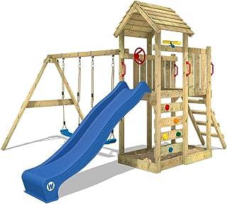 Parque infantil de madera con columpio y tobogán - WICKEY MultiFlyer