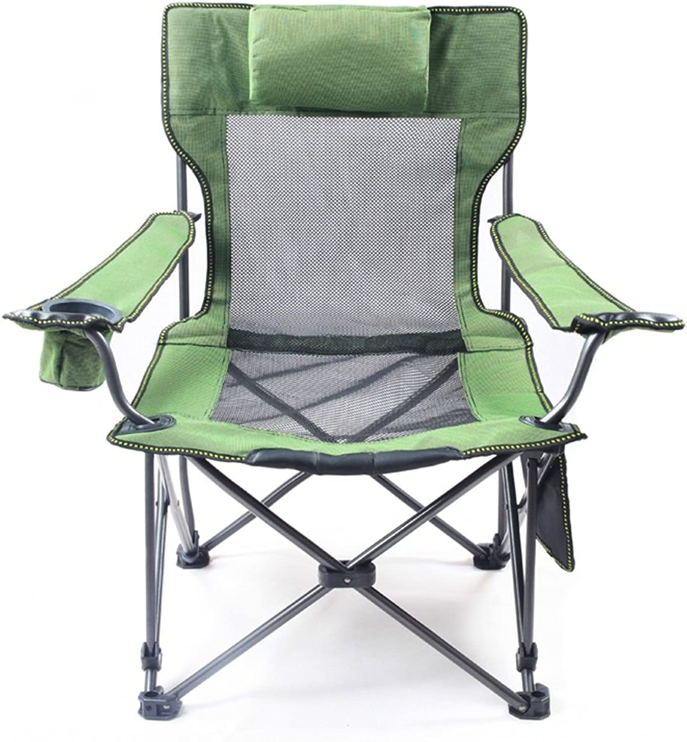 KTYXGKL Outdoor Sitting Double Folding Chair Fishing Chair Adjustable Recliner Portable Beach Chair Lunch Break Chair Folding Chair (color   Black)