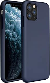 Miracase Liquid Silicone Case Compatible with iPhone 11 Pro Max 6.5 inch(2019), Gel Rubber Full Body Protection Shockproof Cover Case Drop Protection Case (Navy Blue)