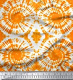Soimoi Orange Samt Stoff Strudel tie-Farbstoff Stoff