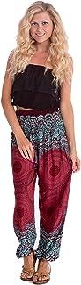 بنطلونات حريمي Happy Trunks Harem - بنطال رياضي فضفاض فضفاض للنساء - ملابس هيبي