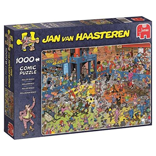 Jumbo Spiele 19060 - Jan Van Haasteren Puzzle - Rollschuh Disco 1000 Teile