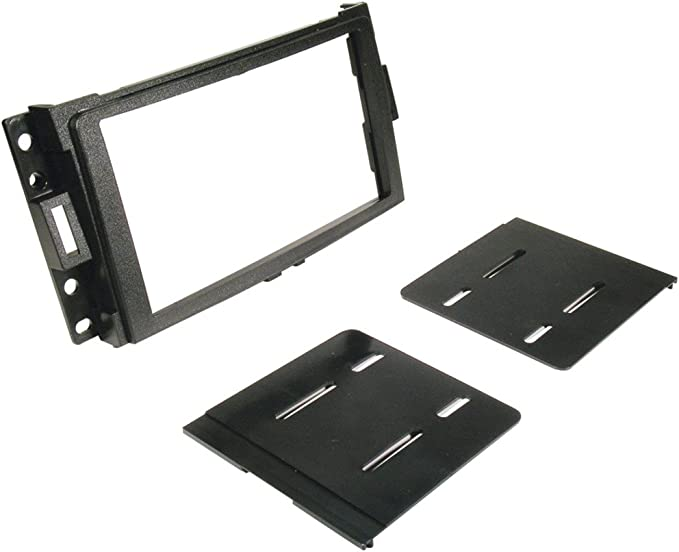 Scosche GM1588B Compatible with Select 1994-04 GM DIN Dash Kit Black