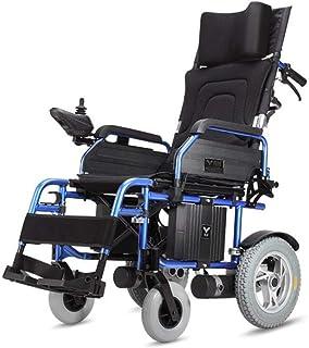 Inicio Accesorios Ancianos Sillas de ruedas eléctricas para discapacitados Acostado plano plegable Batería de litio ligera Material de aleación de aluminio Silla de ruedas motorizada duradera ultra