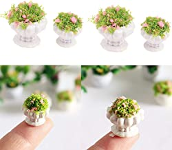 tray 1:12 scale Dollhouse Miniatures Fairy Garden Set of 7 flower pot vase