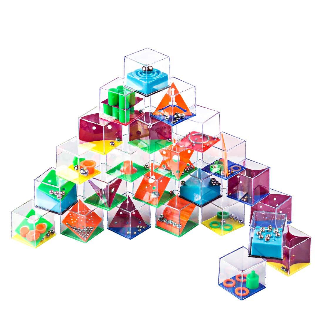 LoKauf 24Pcs Calendario de Adviento Laberinto Juegos de Habilidad Puzzle 3D Rompecabezas Juegos de Ingenio para Niños Adultos: Amazon.es: Juguetes y juegos