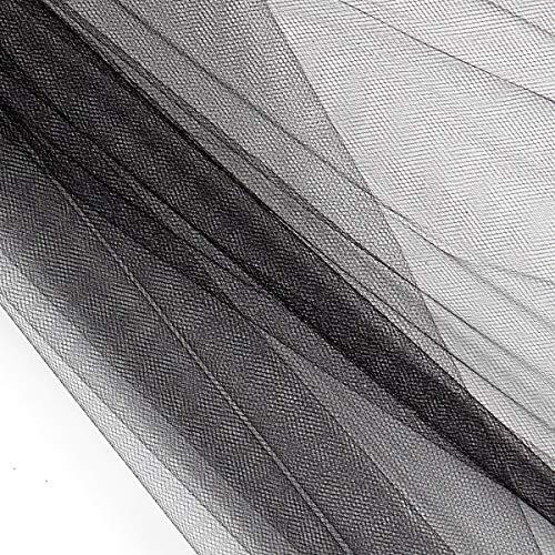 54' Polyester Tulle (Bolt, 40 Yards) Black