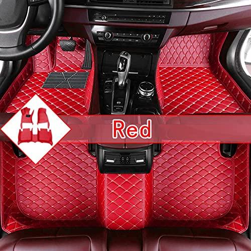 Maidao Tapis de Sol pour BMW X1 E84 2019-2021 Cuir Tapis de Sol Voiture Antidérapante Protection Tous Temps Moquette Rouge