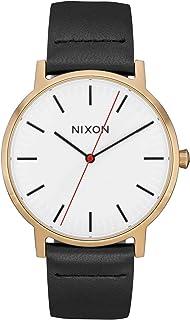 ساعة كلاسيكية للرجال من NYXON Porter Leather A1058-50m مقاومة للماء (40 مم للساعة الوجه، سوار جلد 20-18 مم)