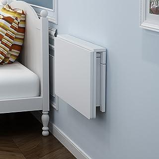 Mesa Plegable Plegable de Pared Mesa de Comedor Mesa de Centro Mesa de Trabajo Space Saver Fold Convertible Blanco (Tamaño : 100 * 40cm)