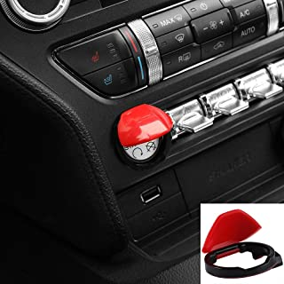 Bonbo Engine Start Stop Button Switch Cover Trim for Ford Mustang 2015 2016 2017 2018 2019 2020