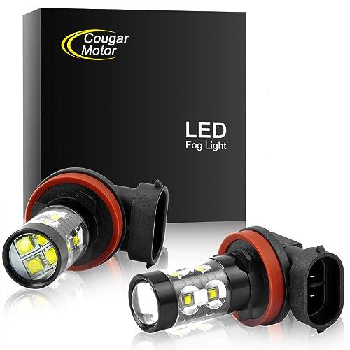 Cougar Motor H11 H8 CREE LED Fog Light/DRL Bulbs - 30W 5000K Bright White
