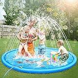 ASWT -Splash Pad, 68 Splash Play Mat para niños, niños, niñas, Pulgadas No más ráfagas, rociador para Piscina, Verano al Aire Libre, Juguetes acuáticos para Fiestas,10m Water Pipe