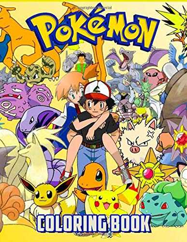 Pokemon Coloring Book: Over 55 Pokemon Illustrations - Great Coloring Books for Adults