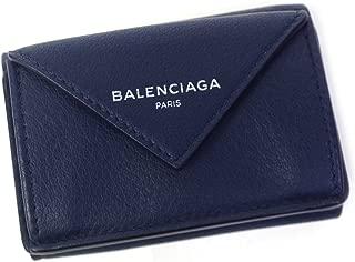 バレンシアガ BALENCIAGA ミニ財布 レディース 三つ折り ペーパー ジップアラウンド ミニ ネイビー 391446 DLQ0N 4222 [並行輸入品]