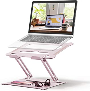 Adjustable Laptop Stand, FYSMY Ergonomic Portable Computer Stand with Heat-Vent to Elevate Laptop, 13 Lbs Heavy Duty Lapto...