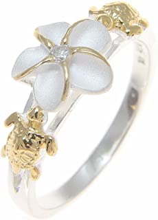 hawaiian plumeria flower ring