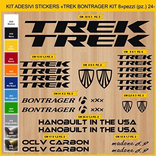 Pimastickerslab Aufkleber Fahrrad Trek BONTRAGER_ KIT 8 Kit Aufkleber Stickers 24 Stück – bici Bike Cycle wählbar Cod.0903 (070 Nero)