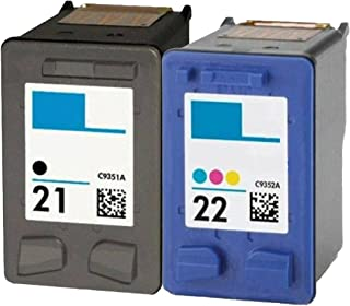 OCProducts Refilled HP 21 and HP 22 Ink Cartridge Replacement for HP PSC 1410 Deskjet F4180 F2280 D2360 D1560 D2460 Officejet 4315 (1 Black 1 Color)
