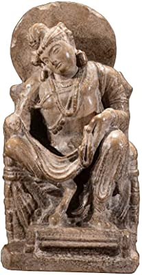 Amazon Com Liushi Buddha Statue Decoration Gandhara Buddha Statue Sculpture Gandhara Sitting Buddha Cultural Relics Home Kitchen