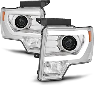 ACANII - For 2009 2010 2011 2012 2013 2014 Ford F150 LED Tube Projector Headlights Driver + Passenger Side