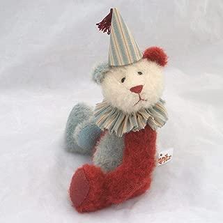 Tweedledum- Panda Teddy Bear Blue Maroon Steiff Schulte Mohair Artist Collectable OOAK 8 1/2 inches