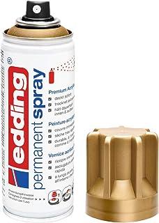 edding 5200 - Spray permanent - or précieux mat - 200 ml - peinture acrylique à pulvériser pour peindre et décorer presque...
