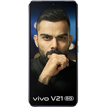 Vivo V21 5G (Dusk Blue, 8GB RAM, 128GB Storage) with No Cost EMI/Additional Exchange Offers