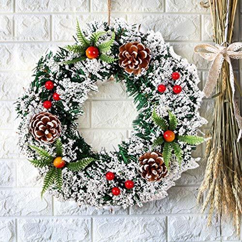 Sayala Ghirlanda di Natale 30cm con Natale Ciondoli in Metallo Corona Appendino Gancio Festival Ghirlanda Hanging Decoration Home