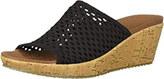 Skechers BEVERLEE - GOLDEN SKY - Woven Single Band Slide womens Wedge Sandal