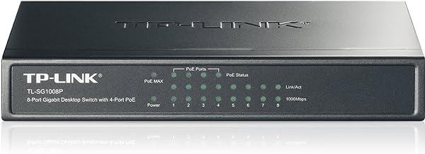 kenable TL SG1008P gigabit 8 Puerto Autoedición Interruptor con 4 Puerto PoE Built En