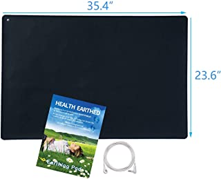 OCEANSGRD Earthing Grounding Mat 23.6x35.4 inch, for Foot Therapy, Universal Grounding Sleep Mat, Grounding Yoga Mat,with Cord. Improve Energy.Relieve Pain,Sleep Assist