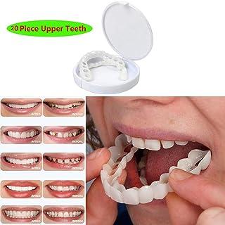 20Pcs一時的な化粧品の歯の義歯の化粧品は白くなることを模倣した上括弧を模倣しました