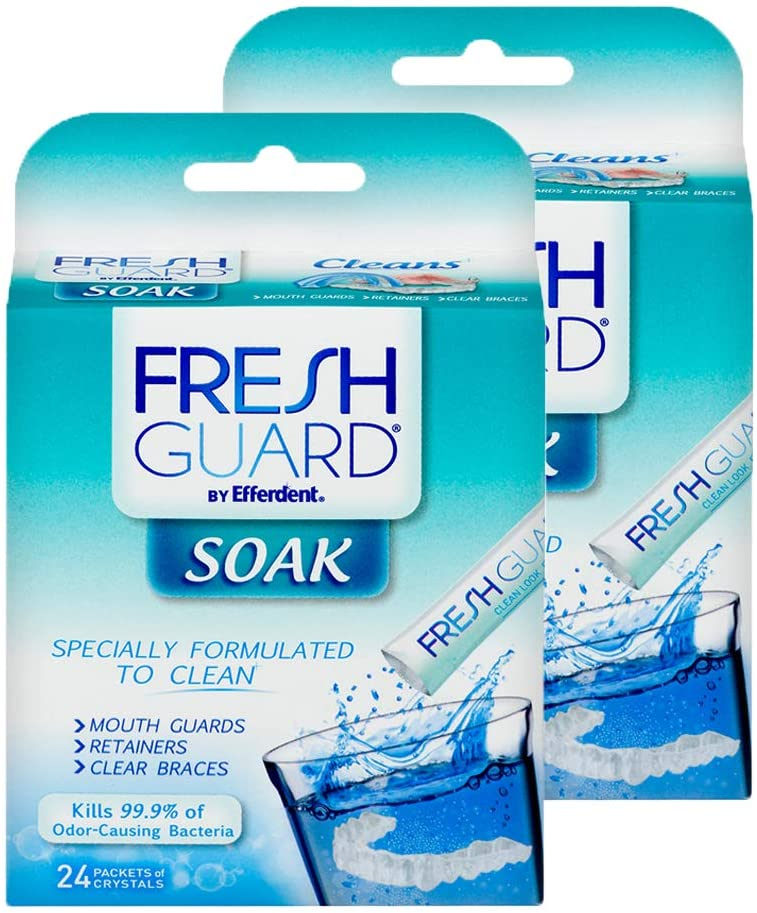 Fresh Guard Soak by Efferdent Popularity Retainers Cou Guards Popular brand Cleans 24