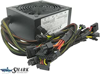 1200W Shark Technology Gaming Computer Silent 120mm Fan ATX 12V 8x SATA 4x PCIe SLI High Efficiency (Over 82 Percent) Power Supply