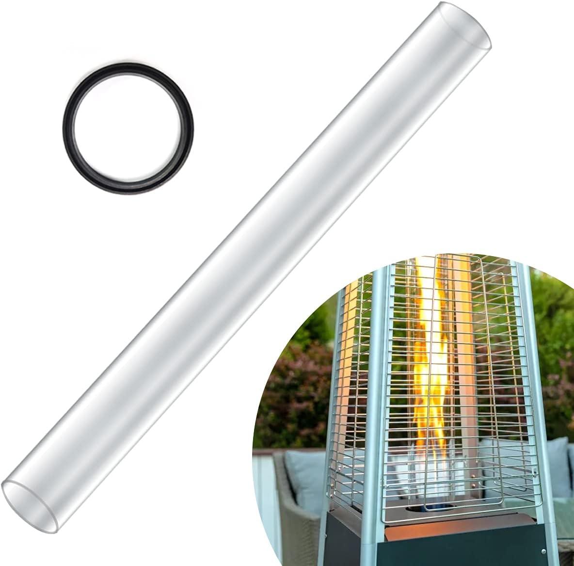 Kisworm Pyramid Patio Heater Glass Outdoor Same Sale day shipping Quartz Tube for
