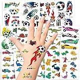 Tattoo Kinder, AGPTEK Dino Tattoos Set, 14 Blätter Wasserdichte Kindertattoos mit Dinosaurier,...