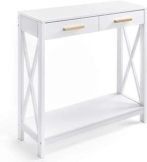 Prosumer's Choice Modern Entryway Console, Narrow Sofa Table w/ Single Drawer Storage