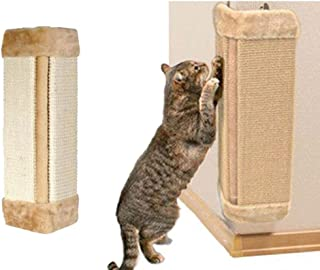 cyclamen9 Wall Mounted Scratching Post, 20inch Hanging Natural Sisal Cat Scratching Mat, Door Wall Protecting Corner with Wall Fixings
