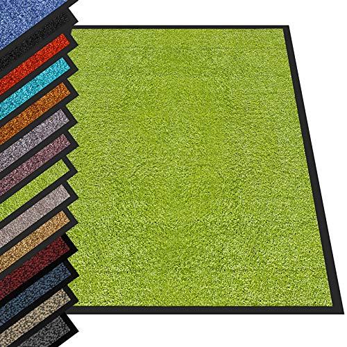 etm® Schmutzfangmatte - Fußmatte in vielen Größen - Türmatte Fußabstreifer für Haustür innen und außen (Hellgrün, 90x150 cm)